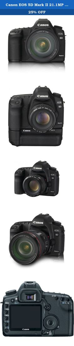 Canon EOS 5D Mark II 21.1MP Full Frame CMOS Digital SLR Camera with EF 24-105mm f/4 L IS USM Lens (OLD MODEL). The Canon 2764B004 EOS 5D Mark II 21.1MP Digital SLR Camera with EF 24-105mm f/4L IS USM Lens includes a the Mark II digital SLR camera that has a stunning 21.1-megapixel full-frame CMOS sensor with DIGIC 4 Image Processor, a vast ISO Range of 100-6400, plus EOS technologies like Auto Lighting Optimizer and Peripheral Illumination Correction. It supports Live View shooting, Live...
