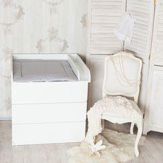 ExtraRund M+Trennfach! Wickelaufsatz für IKEA Malm