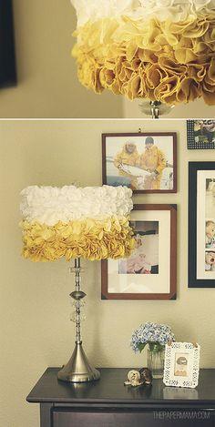 DIY-ify: Natural Turmeric Dye + Ruffled Lampshade   BHG Style Spotters