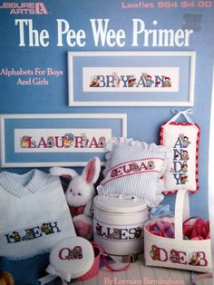 The Pee Wee Primer By Lorraine Birmingham Vintage Cross Stitch Alphabet by NeedANeedle, $4.75