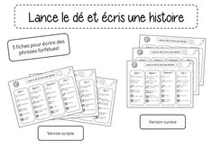 Centre d'écriture : Les phrases farfelues - Crapouilleries French Immersion, Activities For Kids, Bullet Journal, Letters, Gmail, Teaching, Writing, Education, Cycle 2