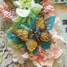"""Hi everyone, here today with my firstdesigner postfor Mixed Media Warriors challenge, my project is inspired by this month's""""Spring"""" moo..."""