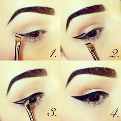 Winged liner step-by-step