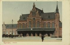 Nijmegen-Station Straatzijde Ingekleurd