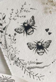 Bee tattoo ideas - My most beautiful tattoo list Bee Art, Bees Knees, Skin Art, Beautiful Tattoos, Painting & Drawing, Bee Drawing, Blackwork, Art Inspo, Art Drawings