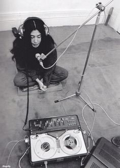 Yoko Ono is a multimedia artist who became known worldwide in the when she married Beatles front man John Lennon. Ono first met J. Nam June Paik, John Lennon Yoko Ono, Fluxus, Multimedia Artist, Friends Laughing, Galleries In London, Thing 1, The Beatles, Famous People