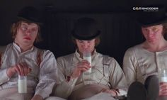 Escena inicial de la pelicula A Clockwork Orange.