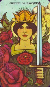 Queen of Swords - The Morgan Greer Tarot is one of my favorite decks to recommend to newbie #tarot readers.