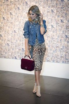 Closet da rê onça sexy e pontual ! Leopard Print Outfits, Animal Print Outfits, Animal Print Fashion, Animal Prints, Leopard Prints, Plus Size Fashion For Women, Fashion Tips For Women, Womens Fashion For Work, Fashion Over 40