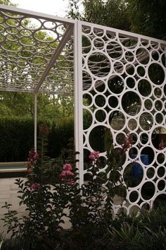 FabArtDIY PVC Gardening Ideas and Projects - PVC Garden Trellis #diy, #garden