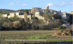 Grignan France AMADagio, Provence River Cruise Nov 2013.  This magnificent hilltop village is surrounded by lavender fields.  The top of the hill is home to the village's Renaissance castle.