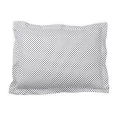 Elegant Swiss Dot Black Percale Duvet Cover / Sham Idea