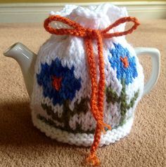 Ravelry: Project Gallery for Flower Garden Tea Cosy pattern by Jenny Stacey Knitting Patterns Free, Free Knitting, Tea Cosy Pattern, Knitted Tea Cosies, Blog Title, Flower Tea, Tea Cozy, Teapots, Hobby Lobby
