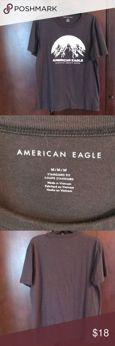 Men's American eagle logo shirt size medium Gray shirt with white logo American Eagle Outfitters Shirts Tees - Short Sleeve