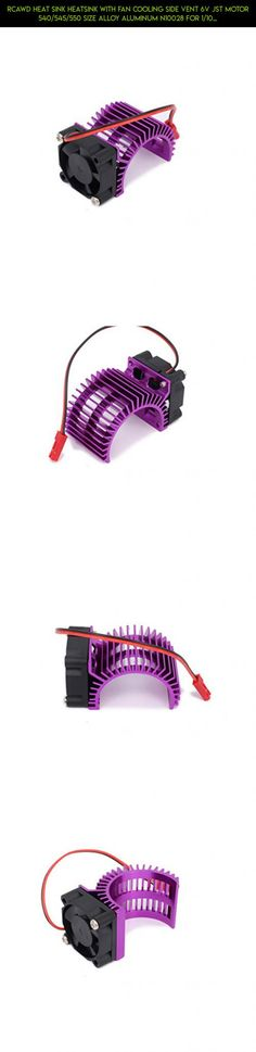 RCAWD Heat Sink Heatsink with Fan Cooling Side Vent 6v JST Motor 540/545/550 Size Alloy Aluminum N10028 for 1/10 RC Hobby Model Car HSP HPI Wltoys Himoto Tamiya 1Pcs(Purple) #parts #tech #fpv #plans #technology #racing #540 #products #shopping #wltoys #kit #drone #motor #camera #gadgets