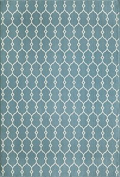 "Linked Indoor/Outdoor Rug (Blue) - 8'6"" x 13' : $622.00. Available online at www.TheLookInteriorsNH.com"