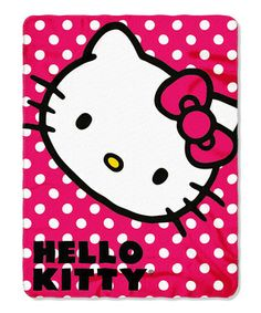 Enjoy this super-soft, colorful and fun throw decorated with the lovable Hello Kitty character. Use this plush piece around the house while watching a favorite show, or use it as a decorative touch on the bed.