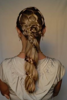 braided hairstyle on long hair