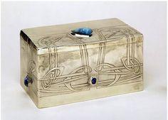 Art Nouveau - Coffret à Bijoux - Argent et Opales - Archibald Knox