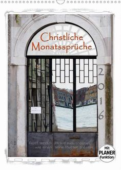 Kalender - Christliche Monatssprüche - Titelblatt