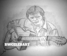 JERRY REED ORIGINAL PENCIL DRAWING GUITAR PICKER AMOS MOSES STRUTTIN' THE CLAW #Realism
