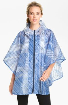 adidas by Stella McCartney 'GB' Print Hooded Poncho (Online Exclusive) available at #Nordstrom