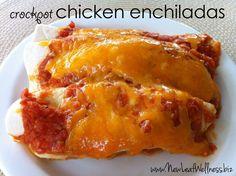 Five chicken crockpot recipes - crockpot chicken enchiladas #crockpot #recipes