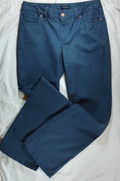 Lands End Jeans Womens Sz 6 Cotton Blend Dark Blue RN 62830 5 Pockets #LandsEnd #AsSeen