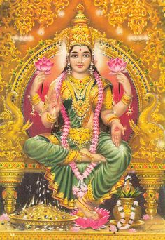 Laxmi, is the Hindu goddess of wealth, fortune and prosperity Shiva, Krishna, Divine Mother, Mother Goddess, Indian Gods, Indian Art, Wicca, Lakshmi Images, Tanjore Painting