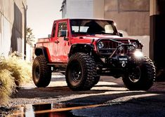 VWERKS Red Jacket Jeep. The list of things stock is shorter than the list of mods, very pricey too.
