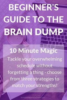 Never forget an important task - big or small! - when you make brain dumping part of your routine. This guide will get you started in just 10 minutes. Writing Help, Writing Tips, Writing Prompts, Brain Dump, Time Management, Project Management, Planner Organization, Graduate School, Journal Prompts