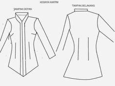 My Hobby: Membuat pola dasar kebaya Kartini