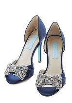 Betsey Johnson Dancing Gleam Heel in Navy Blue | Mod Retro Vintage Heels | ModCloth.com