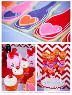 Valentines Day Party Ideas - Love Crush Party Theme. Cute treats!
