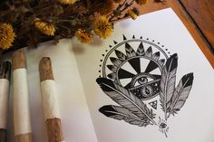 Sketchbook: Work, winter and Creedence by Raych Pony Gold -- ink.  #ElementEdenArtSearch