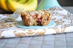 Strawberry Banana Baked Oatmeal. This is seriously awesome and everyone loves it! Vegan and can be gluten free.