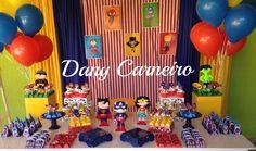 decoração festa infantil super heróis