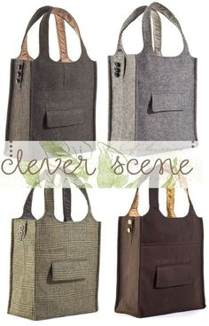 suit = new bag! Old suit = new bag!Old suit = new bag! Sewing Hacks, Sewing Crafts, Sewing Projects, Sewing Tips, Diy Projects, Diy Sac, New Bag, Bag Making, Diy Fashion