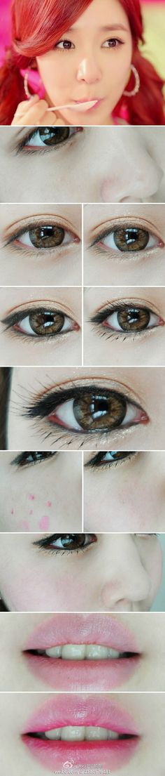 Tiffany eye make up Asian Makeup Tips, Asian Makeup Tutorials, Asian Makeup Looks, Korean Eye Makeup, Korea Makeup, Kawaii Makeup Tutorial, Ulzzang Makeup Tutorial, Make Up Looks, Asian Make Up