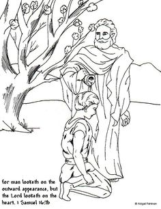 BIBLE COLORING PAGES Samuel Listens To God Bible Journaling