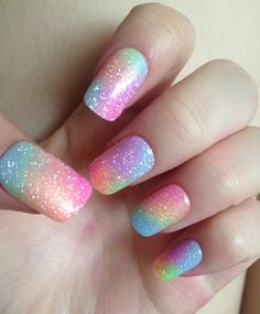 Lovely Pastel Rainbow Nail Designs