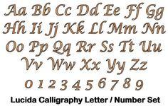 lucida handwriting words