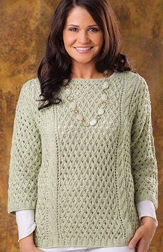 Knitting Pattern for Seneca Lake Pullover