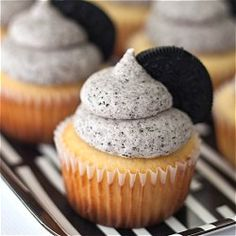 Oreo Cupcakes - with a surprise on the bottom! #foodgawker