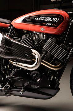 Harley-Davidson XG750R engine close-up  New Flat track bike