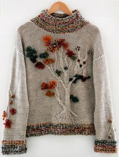 Light brown owl tree oversize sweater handmade Beige sand forest autumn jumper Pullover knitwear wool colorful casual original knitted Large and cozy oversize sweater with forest motifs. The measurements of this jumper are shown in the last photo. Knitting Patterns Free, Knit Patterns, Baby Knitting, Free Pattern, Knitting Sweaters, Pull Oversize Marron, Knit Fashion, Sweater Fashion, Fashion Wear
