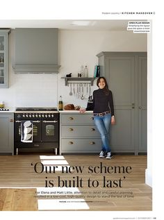 Good Homes magazine featured this lovely deVOL kitchen in October 2017.