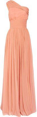 By Malene Birger Cretine silk-chiffon one-shoulder gown