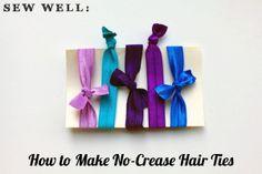 No-Crease Elastic Hair Ties Crafts To Make, Fun Crafts, Arts And Crafts, No Crease Hair Ties, Craft Projects, Projects To Try, Craft Ideas, Elastic Hair Ties, Craft Party