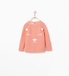 ZARA - COLLECTION SS15 - EARS SWEATER WITH FACE